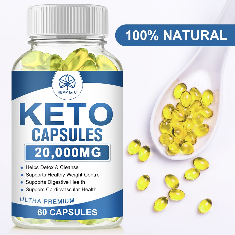 HFU Keto Capsules Natural Slimming Detox Loss Weight Products Relieve Pain and Anxiety Improve Sleeping Dietary Supplement