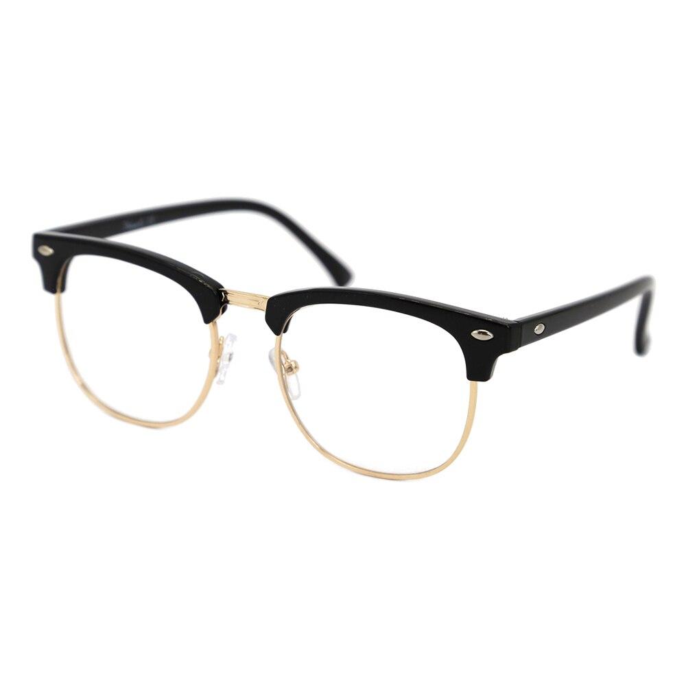 NatuweCo Unisex Glasses Frames Anti Blue-light Lenses Black Silver Gold Prescription Glasses Optical
