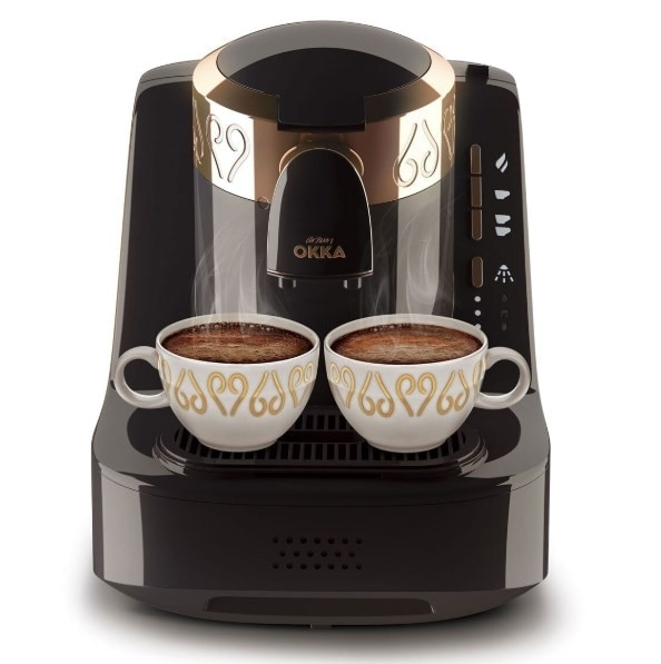 ARZUM OKKA OK001 ماكينة القهوة التركية الأوتوماتيكية بالكامل أسود/أبيض/كروم. شحن SHİPPİNG