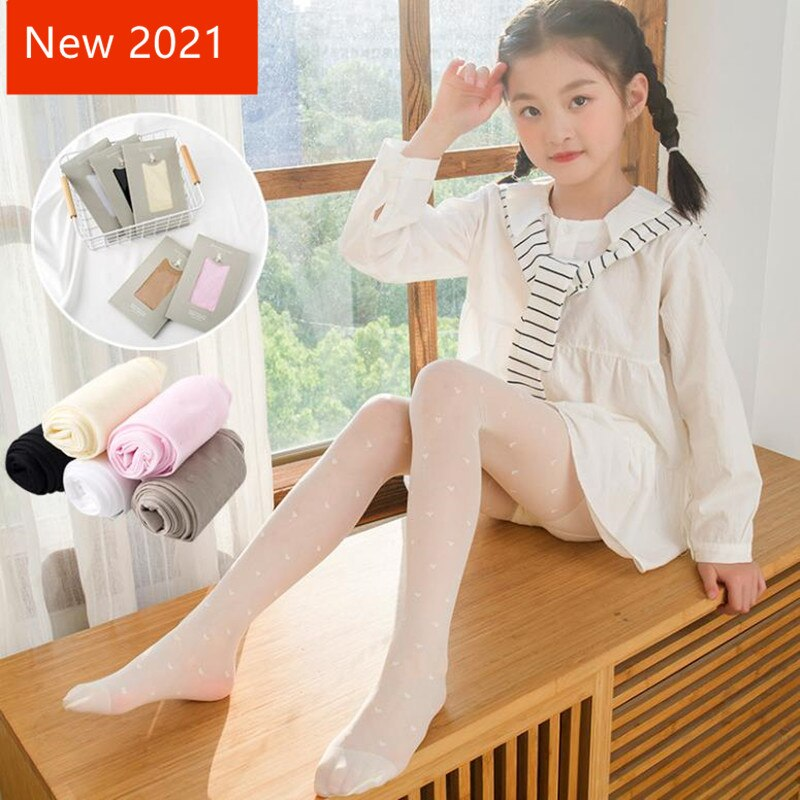 Girls' summer thin love breathable mesh stockings Baby anti mosquito socks