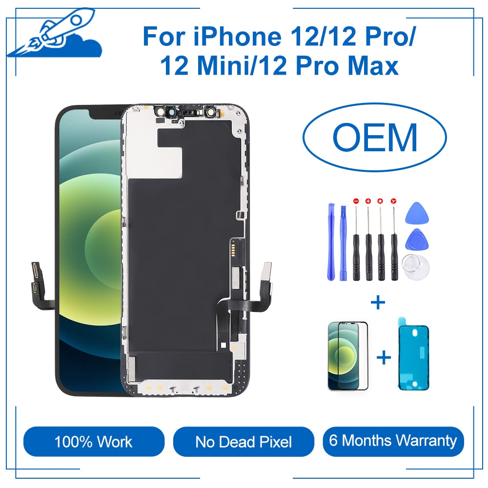Get Grade AAA+ For iPhone 12/12Pro/12mini/12Pro max With 3D Touch Digitizer Assembly No Dead Pixel LCD Screen Replacement Display