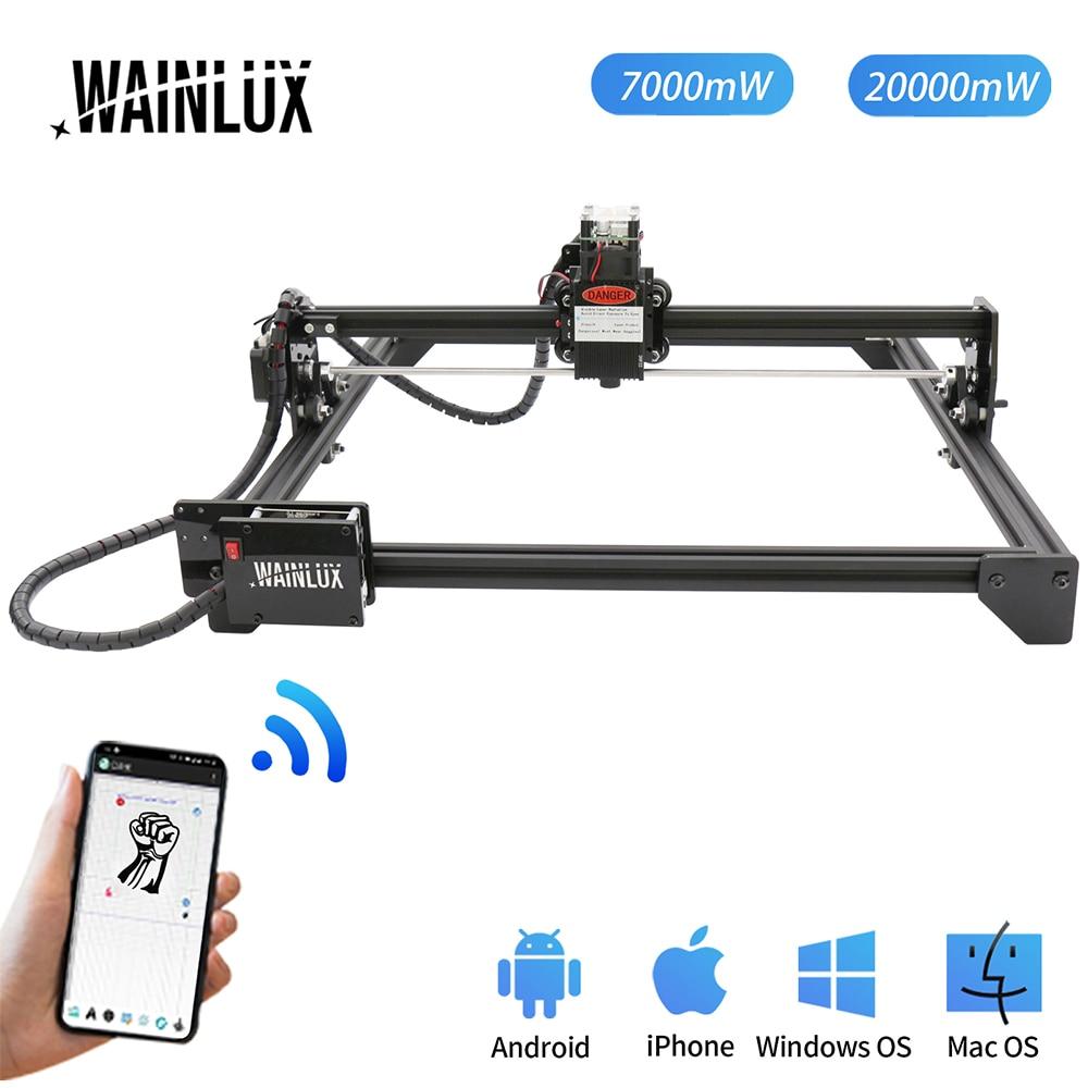 Настольный лазерный гравировальный станок Wainlux JL3, 7 Вт, USB, принтер «сделай сам» для нанесения логотипа и маркировки, резак, режущий станок с ...
