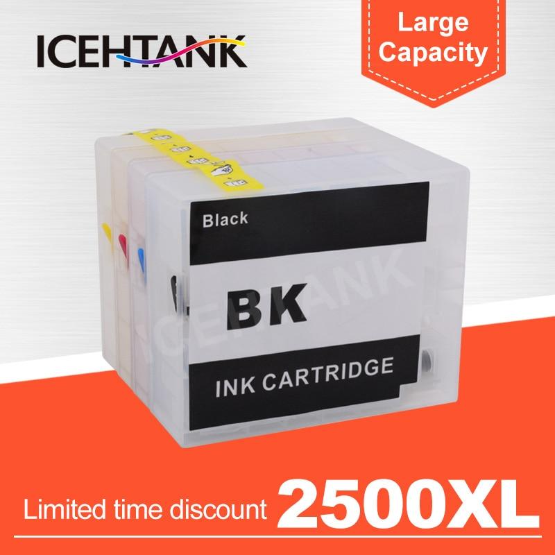 ICEHTANK PGI 2500 cartucho de tinta rellenable para Canon MAXIFY IB4050 Ib4150 MB5050 MB5150 MB5350 MB5450 impresora