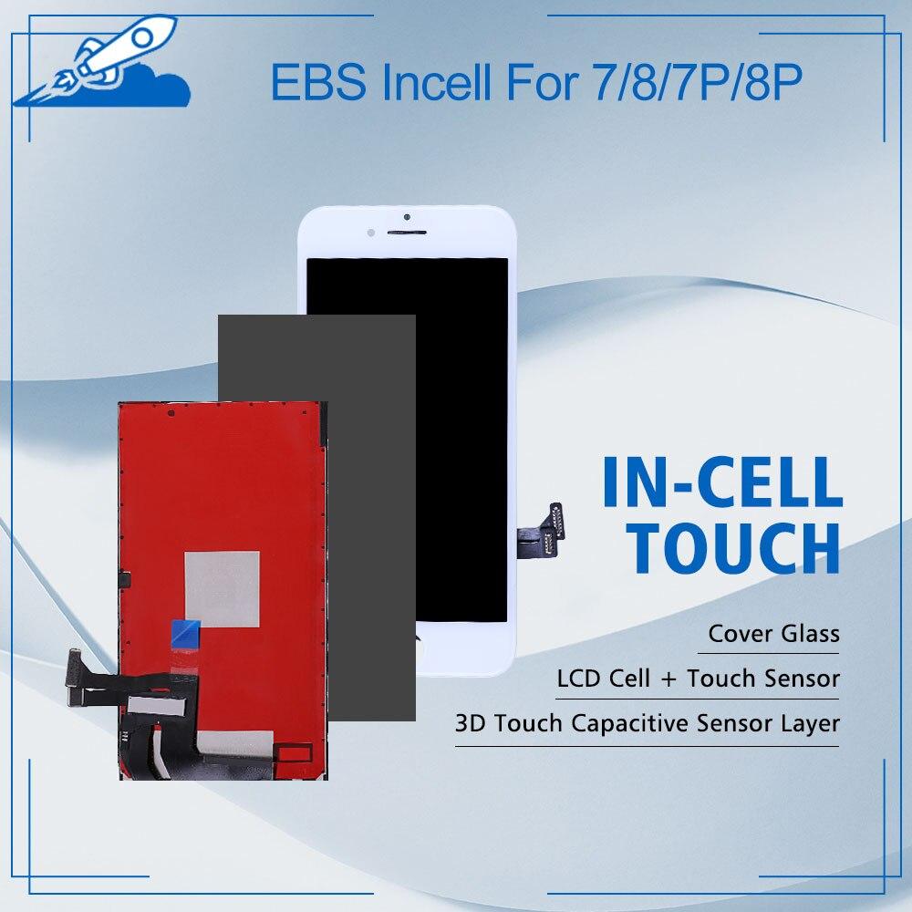 Elekworld-شاشة LCD لـ iPhone 7/8/7 plus/8 plus ، مع دعم لهجة ثلاثية الأبعاد Touch ، لـ EBS-Incell