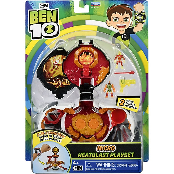 """Juego juego playmates Ben 10 """"micromir. -Hombre de fuego"""""""
