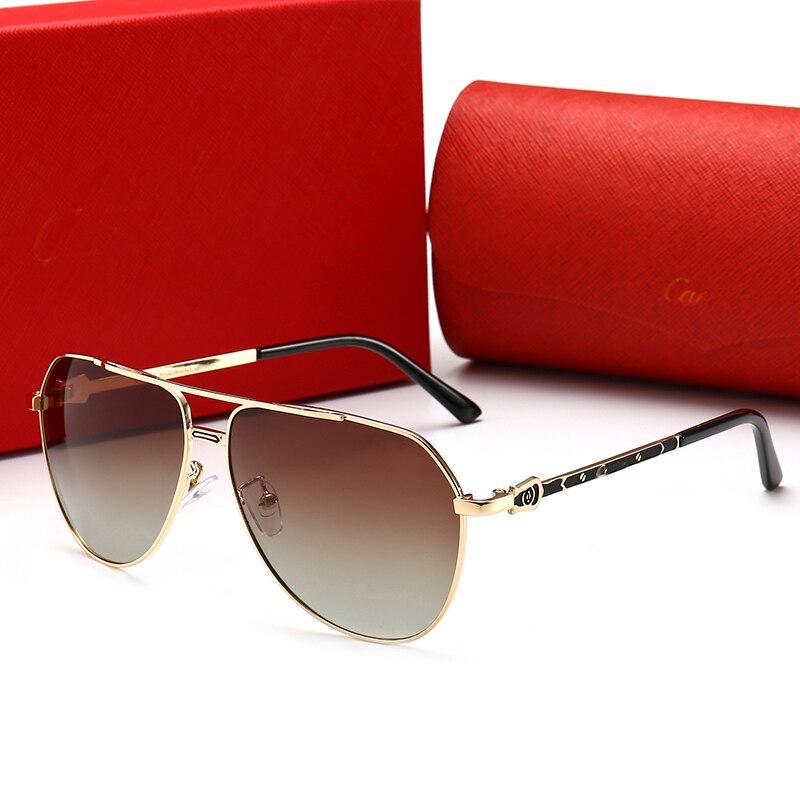 2020 Polarized Pilot Sunglasses Men Luxury Brand Metal Retro Gradient Glasses Men Women Sun Glass Police Eyewear Driving Mirror
