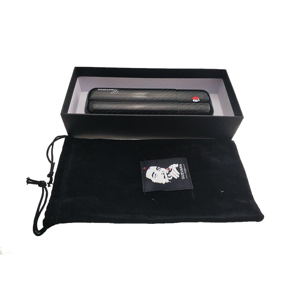 cigar tube Carbon Fiber Cigar Case 2 Tube Travel Humidor Portable Holder Accessories for 2 Cigar Best Gift