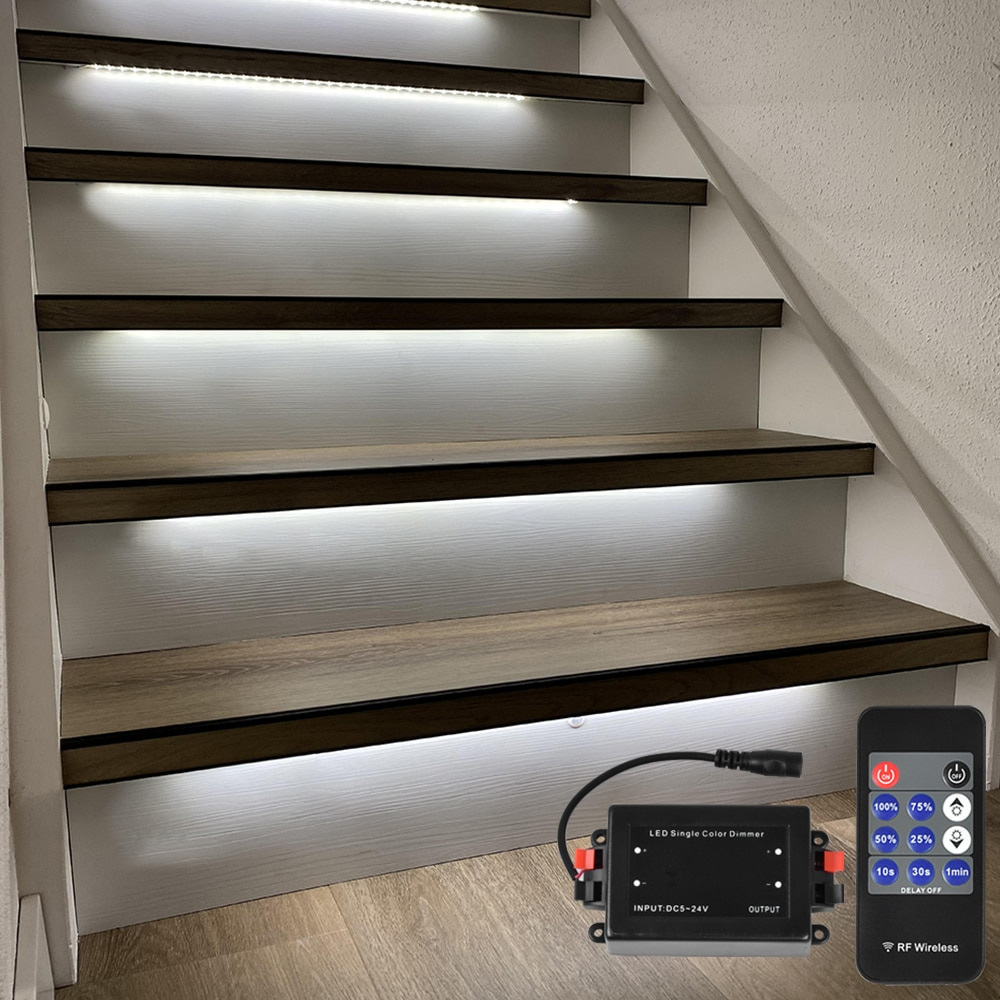 1.3M 15 Steps Bright White 4000K Stair light strip-Plug and Play enlarge