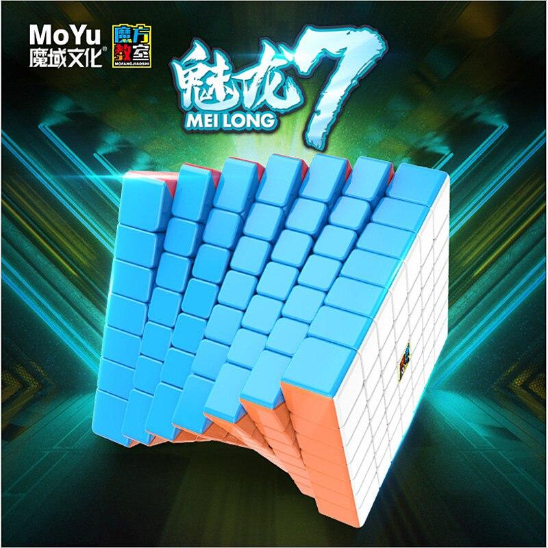 Cubo mágico Moyu meilong 7x7x7, cubo mágico 7x7, rompecabezas cubo mágico, juguetes educativos, cubo de velocidad de competición
