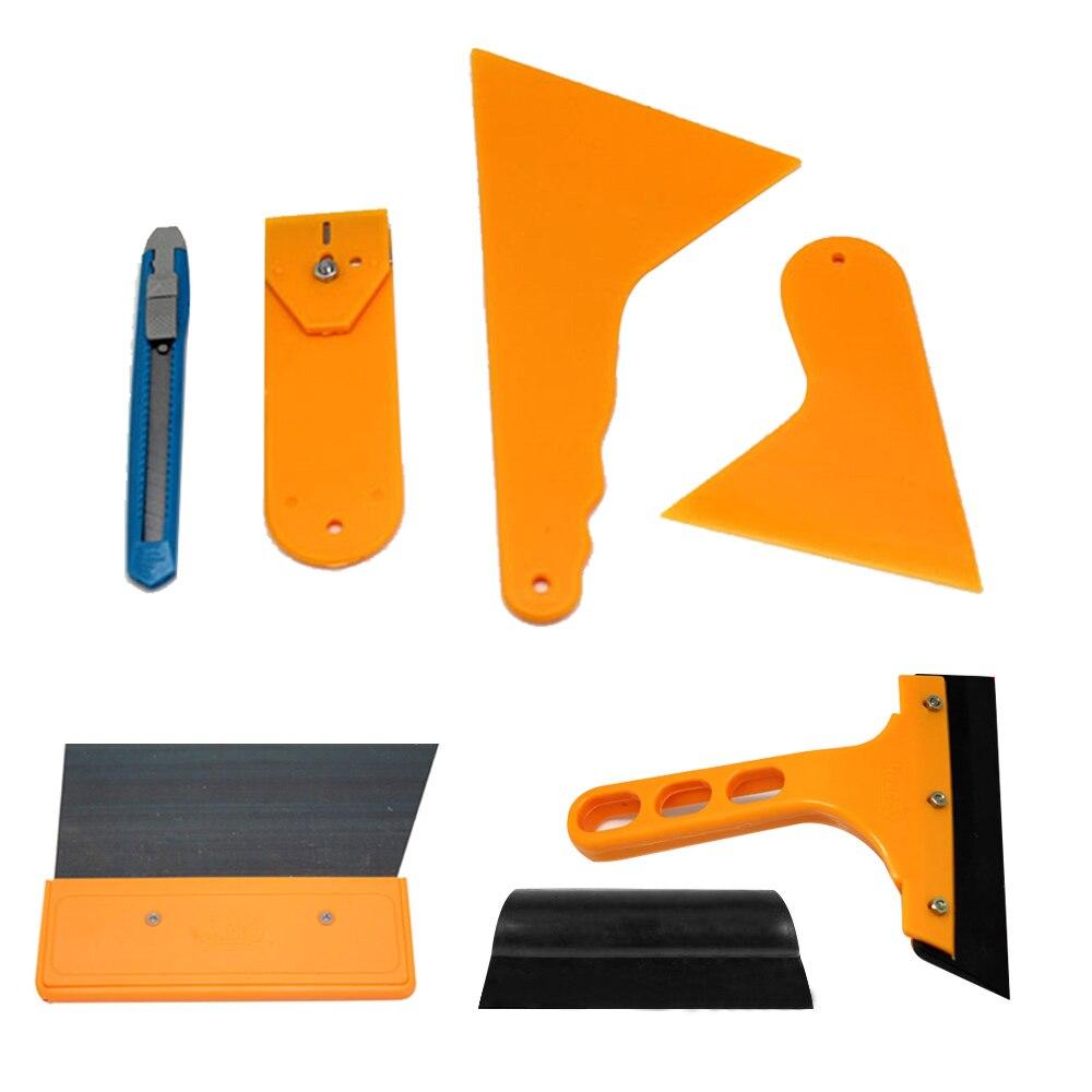 7Pcs Window Tint Tools Kit Car Repair Tool 3M Squeegee Scraper Car Foils Solar Sunshade Tools Kit Car Film Wrap Auto Hand Tool