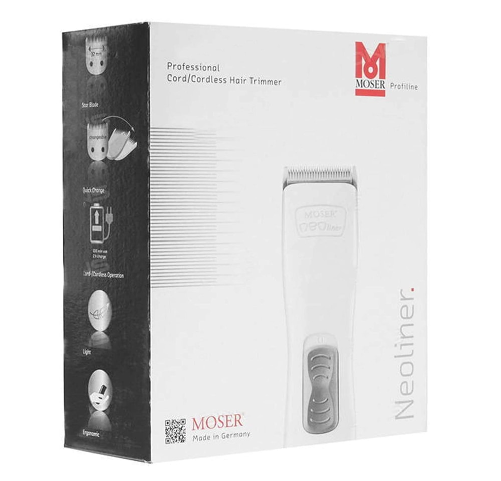Moser NeoLiner Professional Cord/Cordless Trimmer 1586-0150, Hair Beard Cutting Trimmer, Clipper, Shaver, hair Styling Machine enlarge