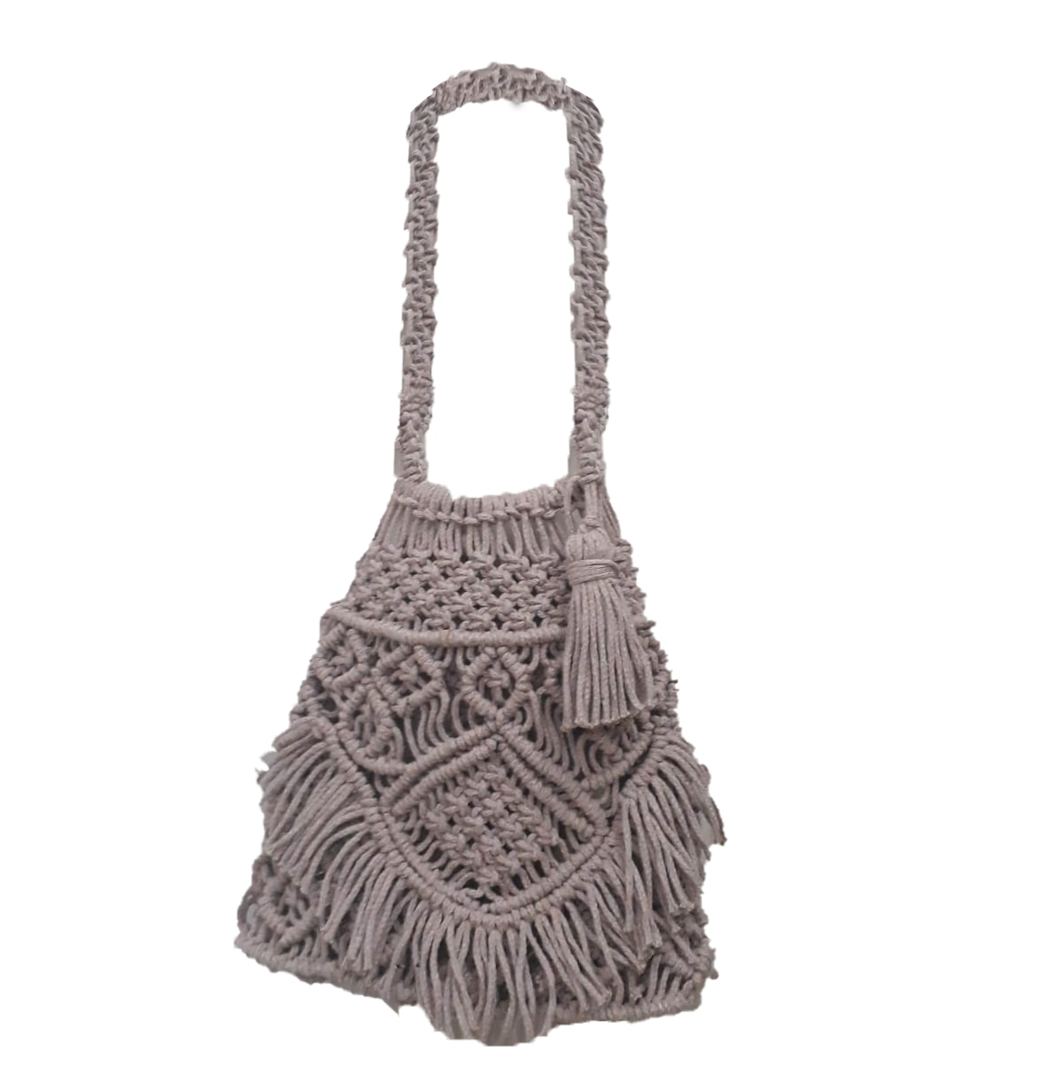 Сумка макраме ручной работы, вязаная, стильная сумка, женская сумка, натуральный, специальный дизайн, свободный дизайн, уникальная, маленька...