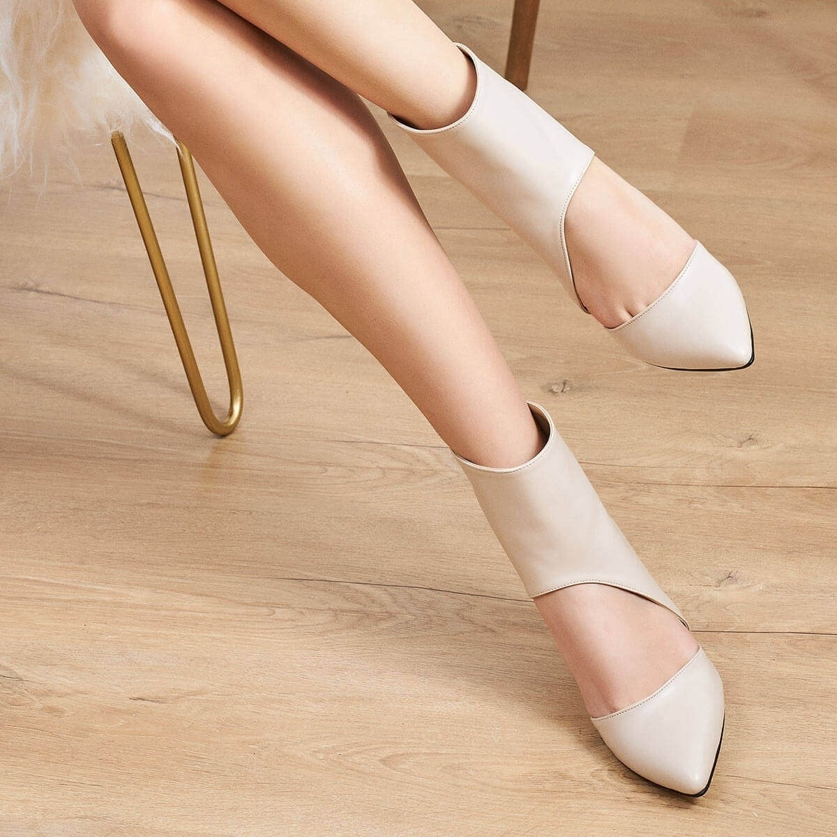 Mio Gusto-حذاء نسائي بكعب عال 8 سنتيمتر ، حذاء بكعب منخفض ، لون أسود وبني ، ماركة Sasha