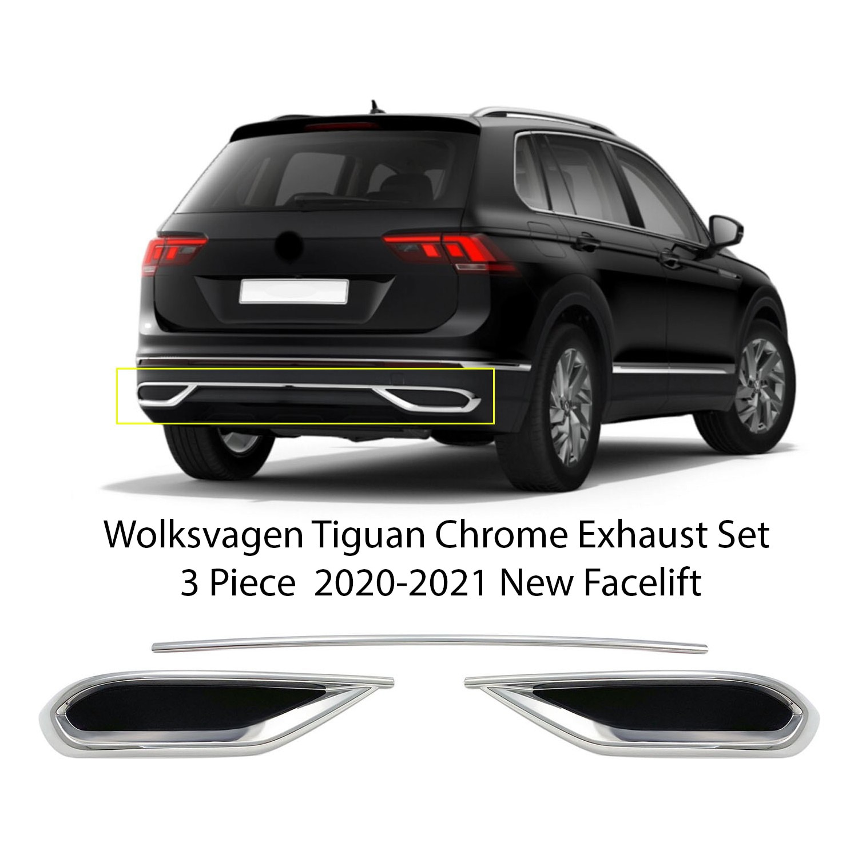 ل Volkswagen تيجوان كروم العادم عرض Wv الفولاذ المقاوم للصدأ سهلة التركيب 4 قطعة اكسسوارات السيارات الخارجي أجزاء منتجات السيارات