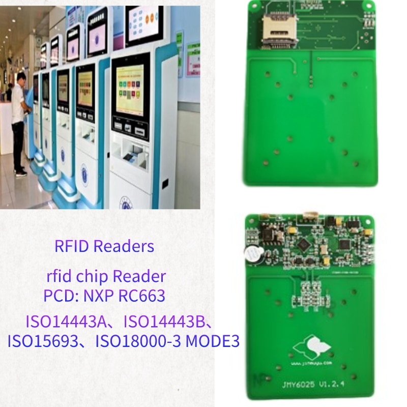 NFC واي فاي USB HID واجهة رقائق قارئ ISO18000-3 MODE3 الكاتب الذي يدعم miver 1K 4k بطاقة جزءا لا يتجزأ من تتفاعل 13.56 MHZ