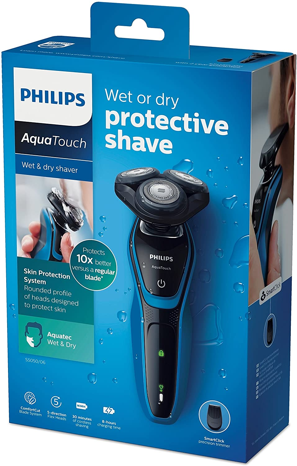 ORGINAL Philips AquaTouch S5050 Electric Shaver for Wet Dry Shaving Men's Shaver S5050 / 06 Waterproof Precision Trimmer enlarge