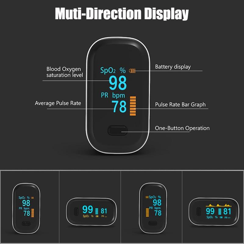 OLED Finger Pulse Oximeter SpO2 PR Saturation Monitor Oximetro De Dedo Pulsioximetro Household Health Heart Rate PR Saturator