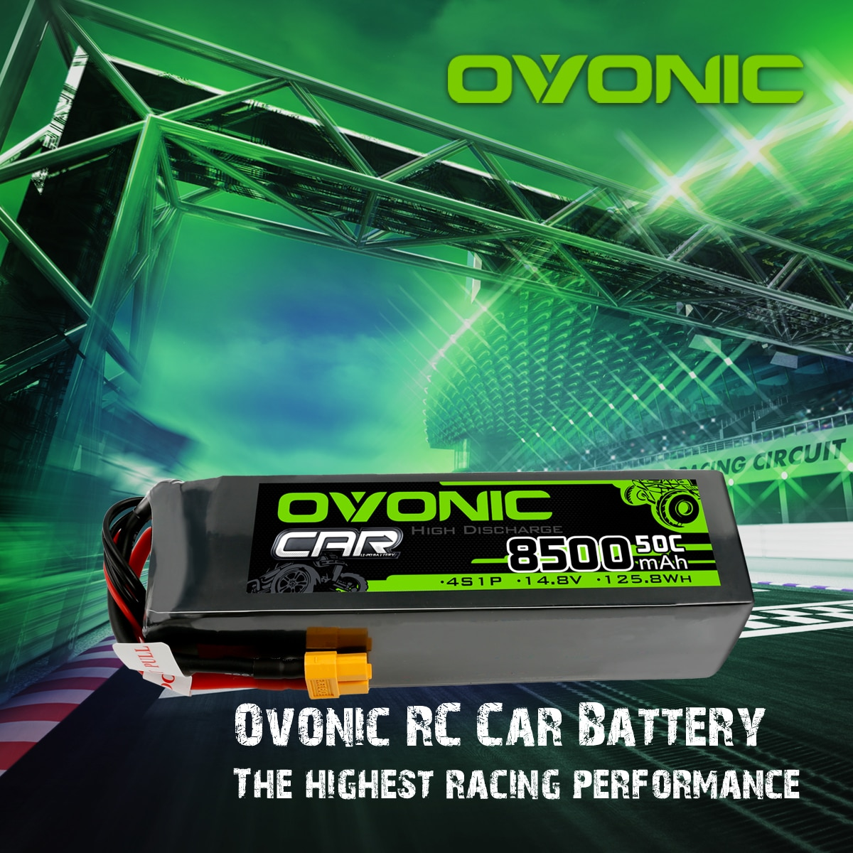 Ovonic 8500 Lipo Batteries 50C 4S 14.8V LiPo Battery With XT60 Plug For Xmaxx 8S RC Car Truck enlarge