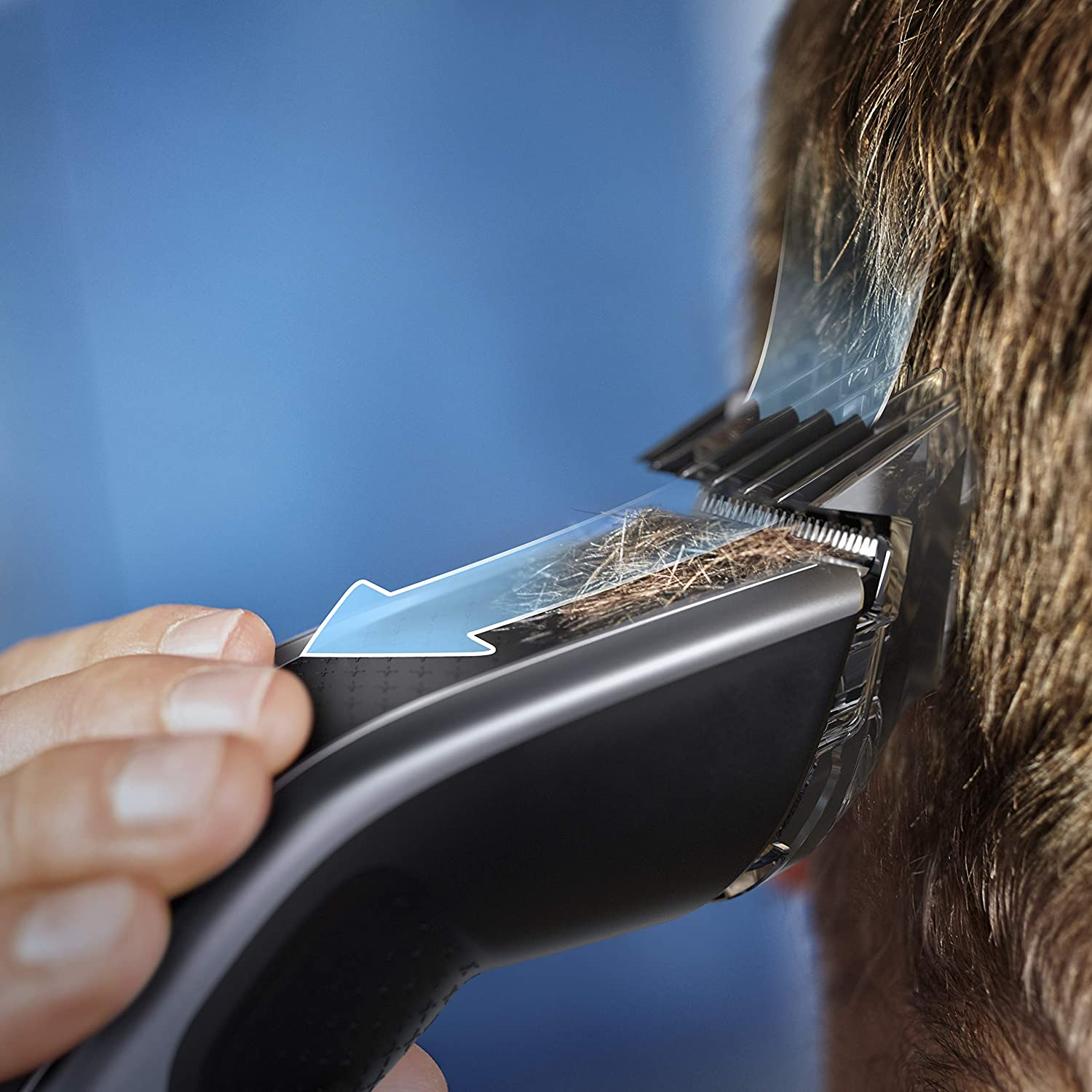 Philips HC5630 / 15 Series 5000 hair / beard trimmer, 28 length settings, 3 comb heads and Turbo mode enlarge