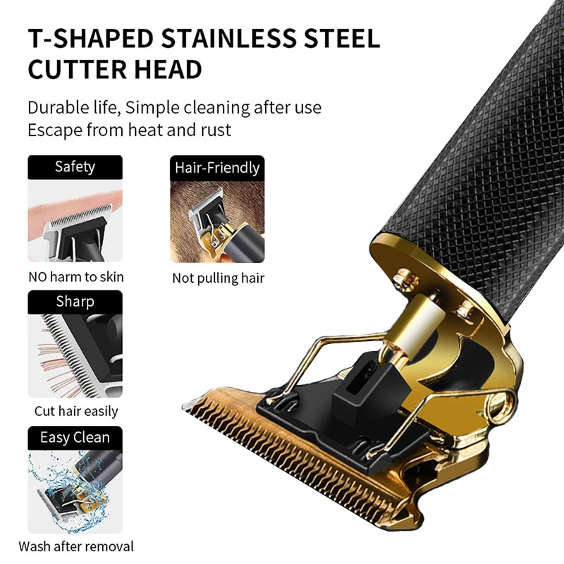 Professional Hair Trimmer for Men Electric Hair Clipper Tondeuse Homme Beard Barber Shaver Hair Cutting Machine Kit Haircut Tool enlarge