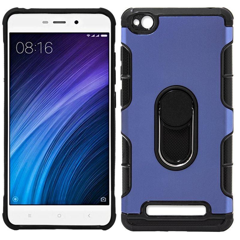 Carcasa Xiaomi Redmi 4A Aluminio + Anilla (Azul)