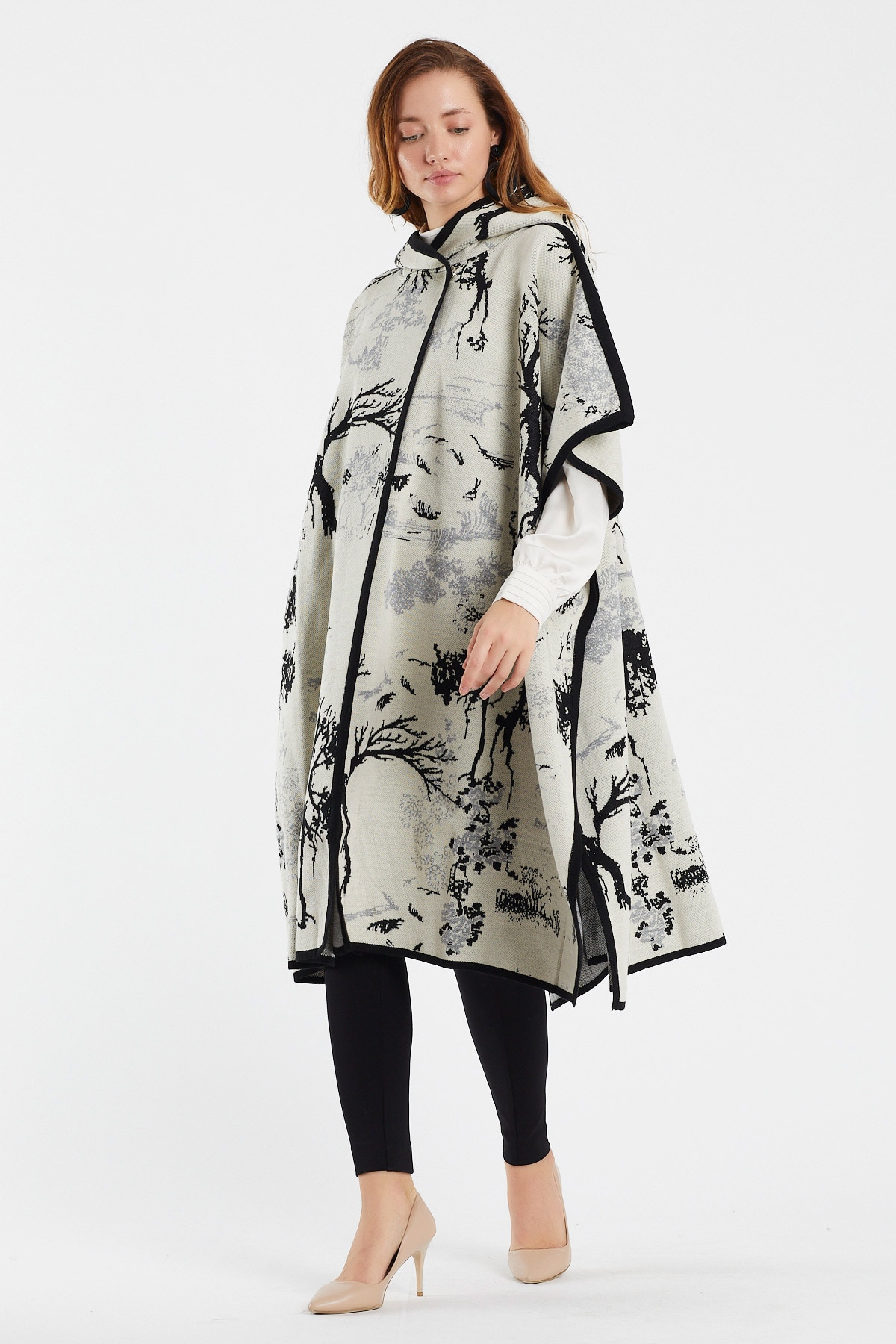 Women's  dress BTS  poncho ,  traf top shawl and  wrap cape for women - oversized long hoodie  forWinter Fall enlarge
