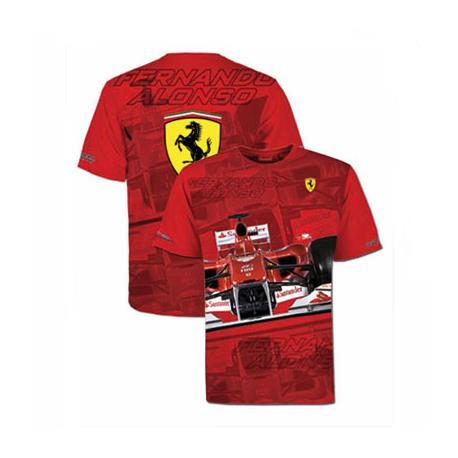 Camiseta hombre Ferrari Fernando Alonso casco rojo talla S