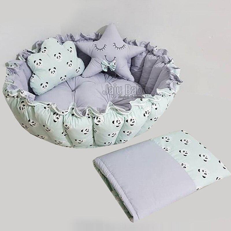 حصيرة لعب للأطفال رمادي مدمج مع سرير لعب فاخر بتصميم باندا من جاجو