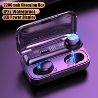 TWS Bluetooth 5,0 наушники беспроводные 2200 мАч зарядная коробка наушники 9D стерео спортивные водонепроницаемые наушники гарнитуры с микрофоном HKFZ