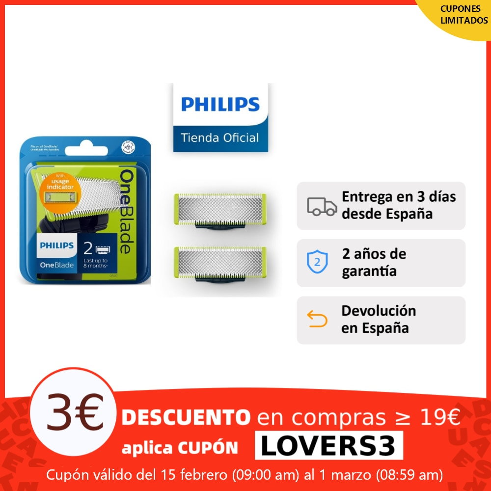 Philips QP220/55, replacement blade for Philips OneBlade, 2 blades