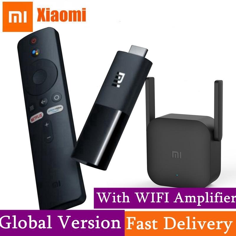 نسخة عالمية من عصا تلفاز شاومي Mi تلفاز أندرويد 9.0 2K HDR DTS عالي الدقة فك ترميز مزدوج 1GB RAM 8GB ROM مساعد جوجل مقابل عصا تلفاز النار