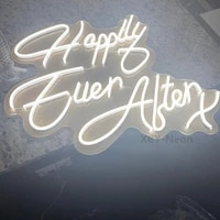 custom neon sign happily ever after x neon sign led neon light wedding sign party bride shower room home decor wall hanging ins