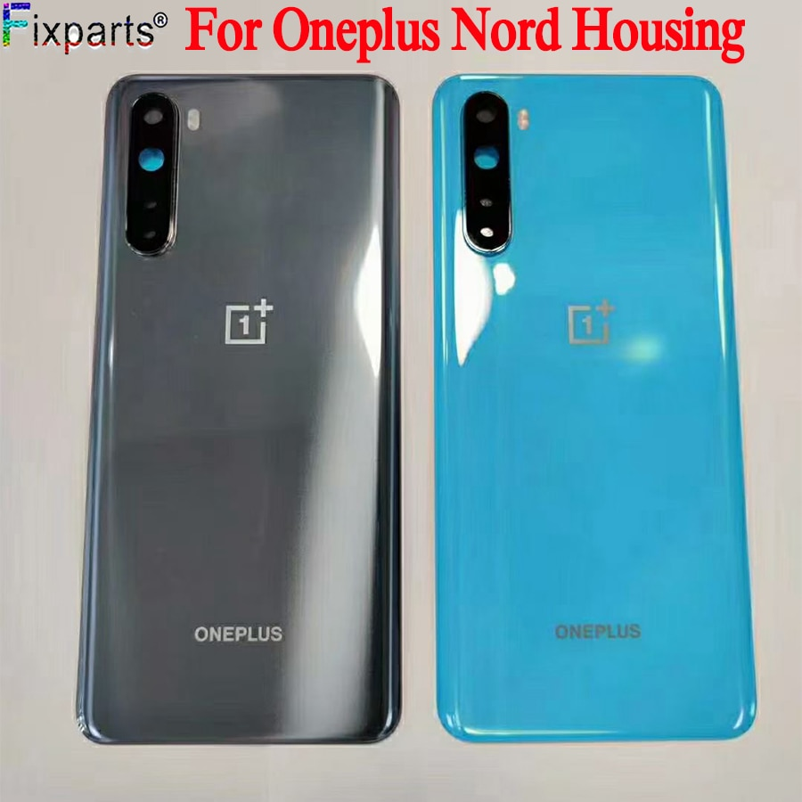 Original New For OnePlus Nord Back Battery Cover Door Rear Glass For Oneplus Nord 5G Battery Cover H