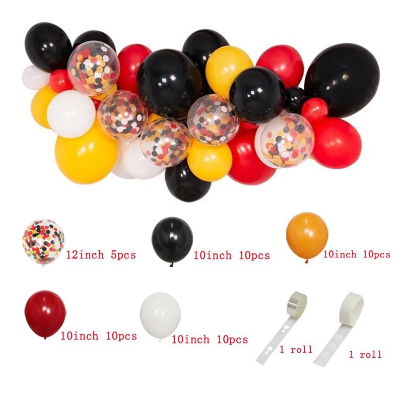 Микки, Минни Маус, детский душ, шар, вечеринка, гирлянда, арка, день рождения, вечеринка, фон, баллоны, полоса, цепь для свадебных украшений