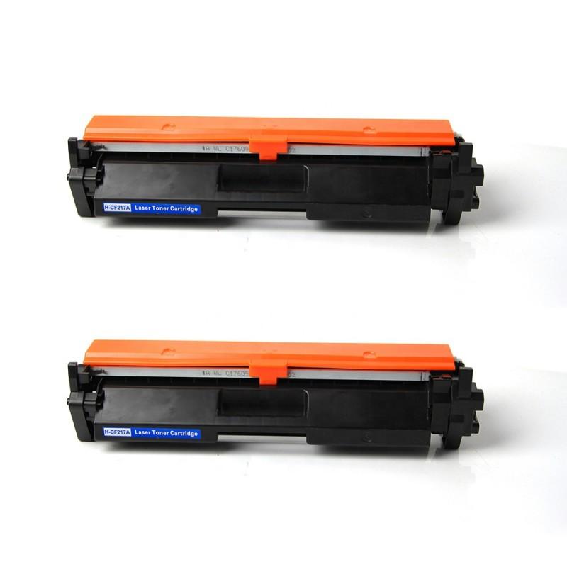 Toner  Pack 2 x HP CF217A Premium Chip Compatible