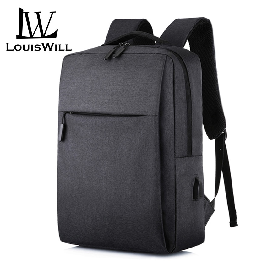 Louswill Laptop Backpacks Wear-resistant Shoulder Backpack Oxford Waterproof Computer Bag Backpack with USB Charging Port trumpet gig bag box case backpack 600d water resistant oxford cloth with adjustable dual shoulder strap new arrival