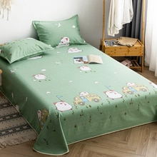 INSFENG Thicken encrypted three-piece cotton bed sheet that is not easy to wrinkle, old coarse cloth
