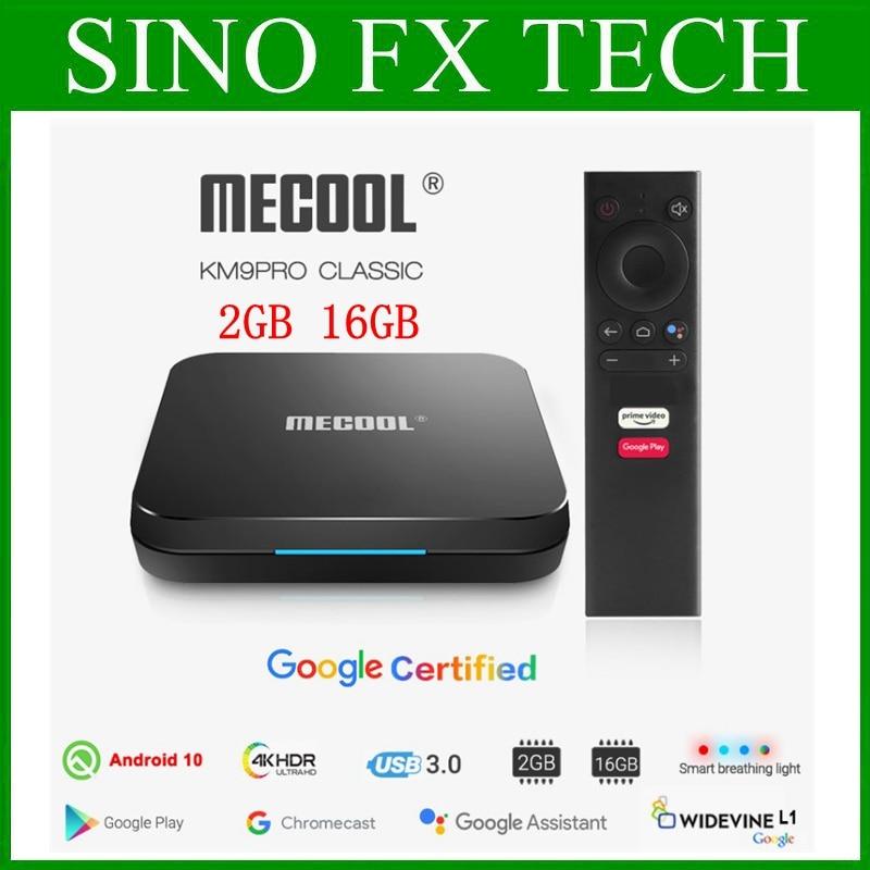 MECOOL KM9 برو جوجل معتمد Androidtv 2GB 16GB Amlogic S905X2 أندرويد 10.0 4K الذكية صندوق التلفزيون KM9 برو
