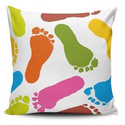 Belnido Home Premium coloridos pies temáticos almohada decorar caso KRB1062