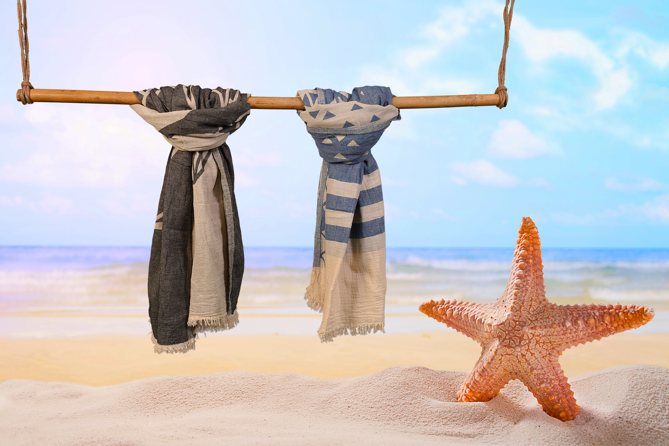 2 Pack Jacquard Beach Towels
