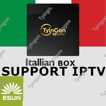 For Italy member Best box support italia iptv TyinGon android tv box Support European iptv