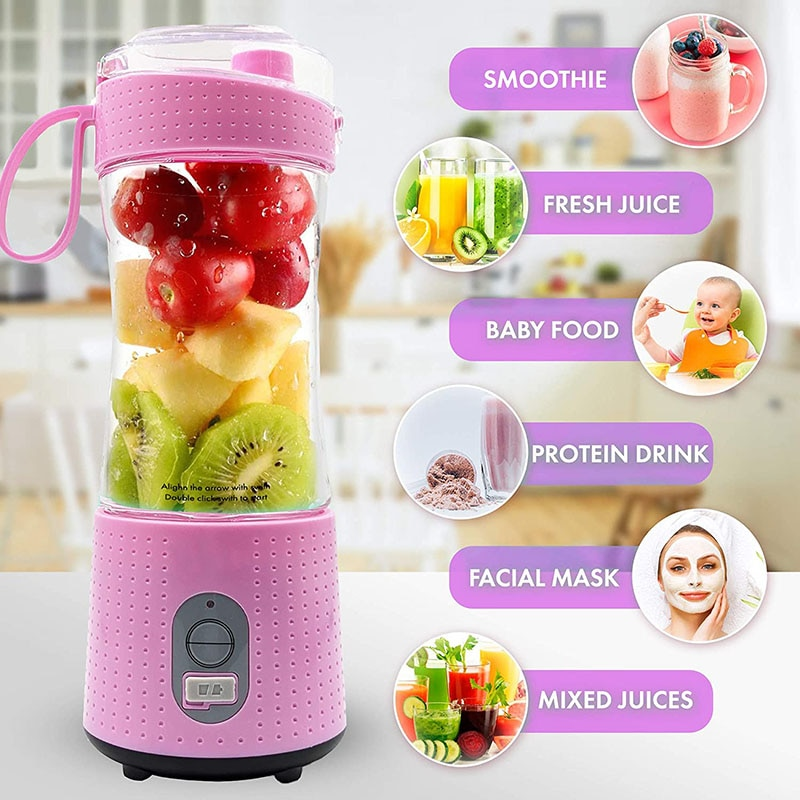 Mini Portable Juicer Machine Usb Electric Fruit Smoothie Blender Mixer for Personal Food Processor Juice Extractor household juicer automatic blender juicer machine multi function meat grinder ice crusher power machine electric juice extractor