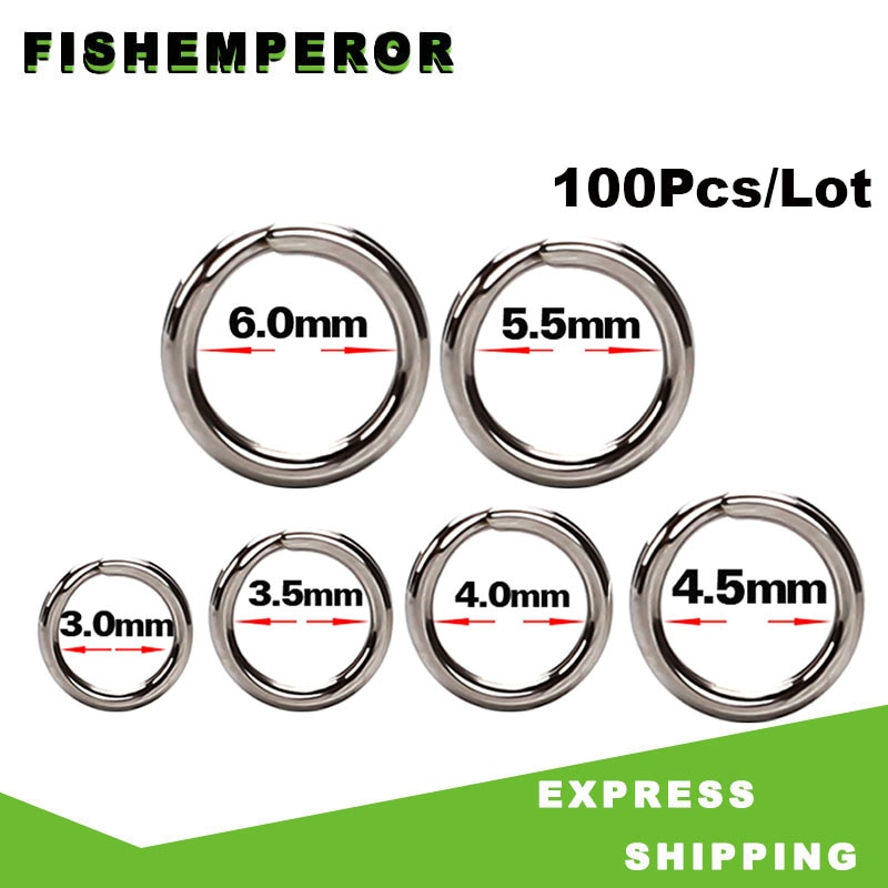 AliExpress - 100Pcs/Lot Fishing Rings Stainless Steel Split Rings High Quality Strengthen Solid Ring Lure Connecting Ring Fishing Accessories