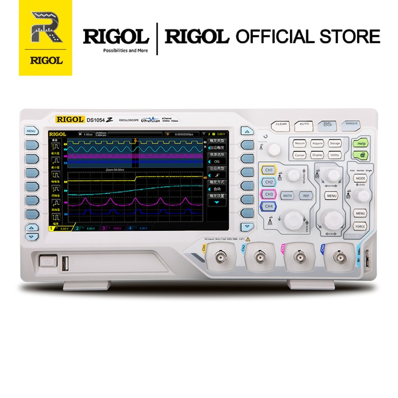 RIGOL DS1054Z 50MHz Digital Oscilloscope 4 Analog Channels