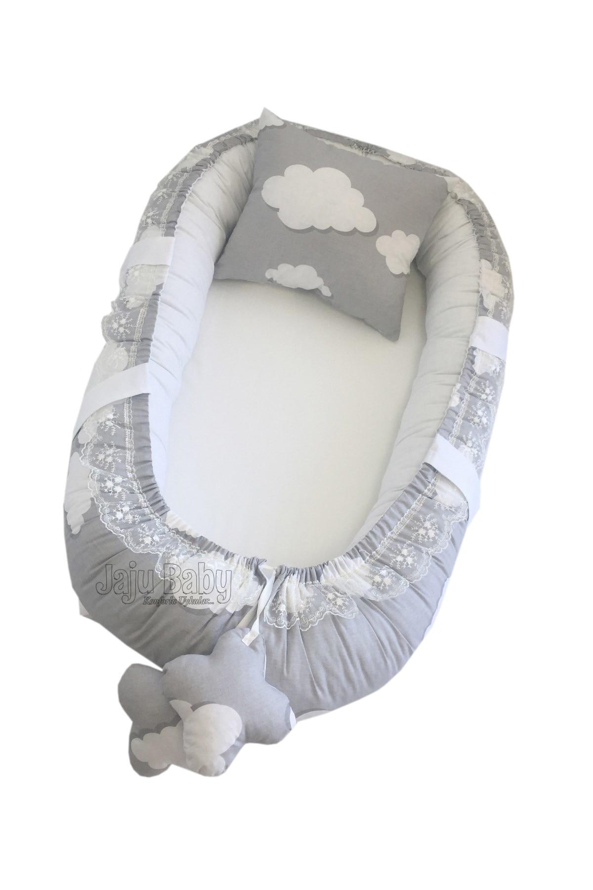 Jaju Baby nest Gray Cloudy Orthopedic Luxury BabyNest Baby Bedding
