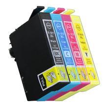 4 Cartuchos de tinta Modelo T18XL T 18XL t1811 t1812 t1813 t1814 Compatible con impresoras Epson XP405W XP312 XP412 xp313 xp413