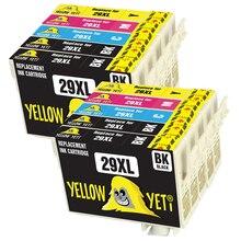 10 pièces Compatible 29XL cartouche dencre pour T2991 - T2994 EPSON XP255 XP257 XP332 XP352 XP432 XP455 XP 255 257 332 352 432 Imprimante
