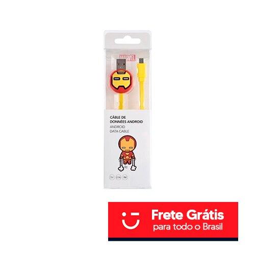 CABO USB PERSONALIZADO HOMEM DE FERRO, MINISO