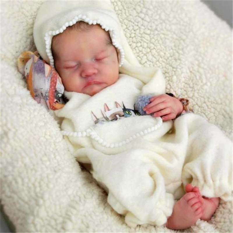 RSG Bebe Reborn Doll 17 Inches Lifelike Newborn Reborn Baby Levi Vinyl Unpainted Unfinished Doll Par