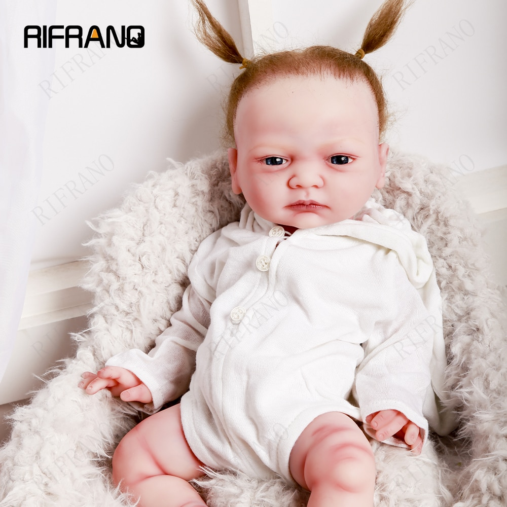 45cm Full Body 100% Silicone Reborn Babies Realistic Eyes Opened Soft Baby Dolls Lifelike Kids Toys for Girl and Boys